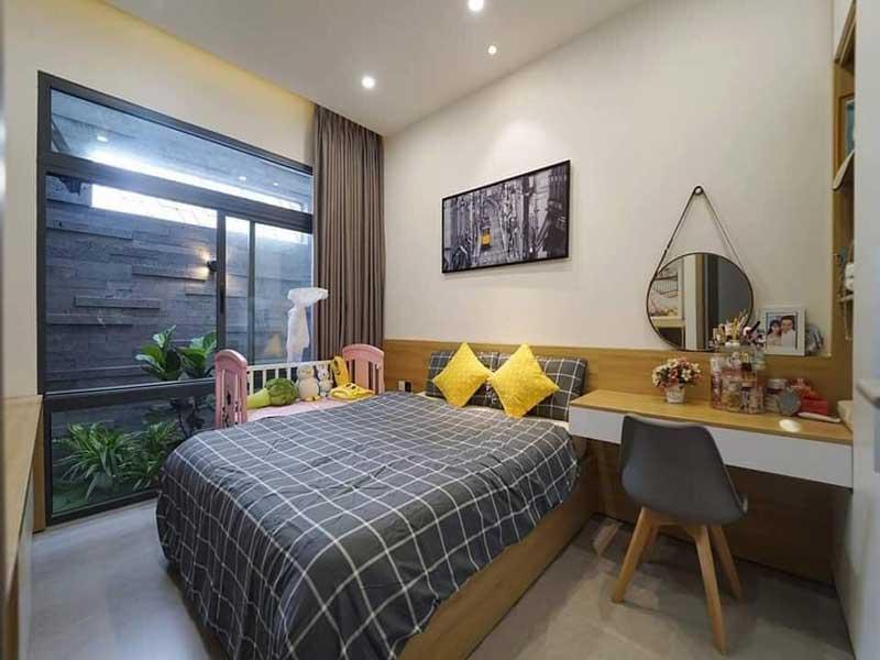 Phòng ngủ nhà phố 2 tầng hiện đại 5x15m