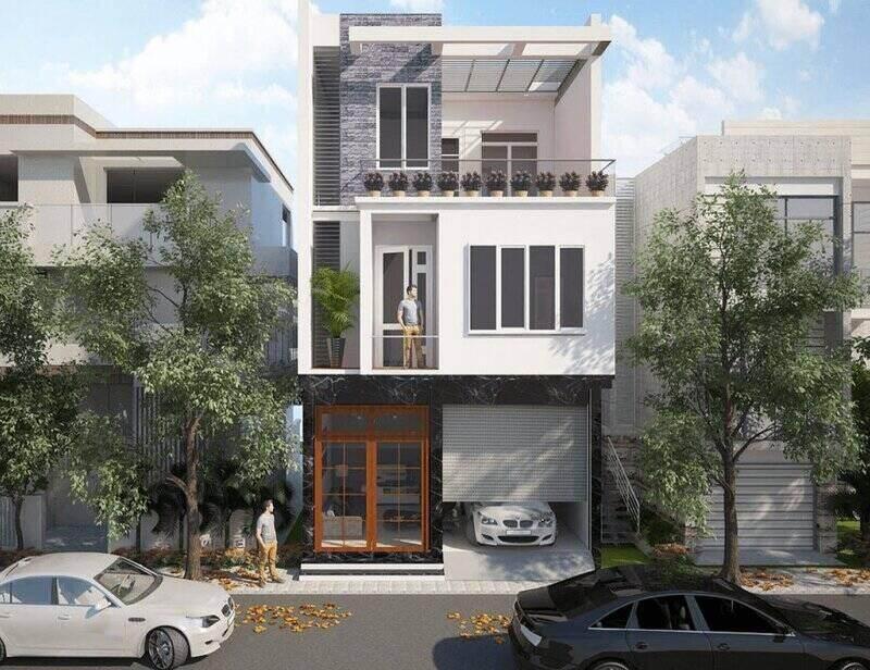 Thiết kế nhà mặt phố ấn tượng