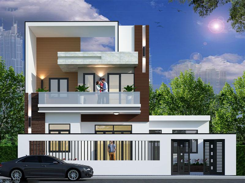 thiết kế nhà phố 2 tầng diện tích 7x15m