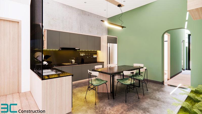 Thiết kế phòng bếp ấm cúng