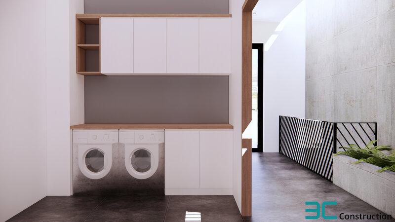 Phòng giặt nhà mặt phố