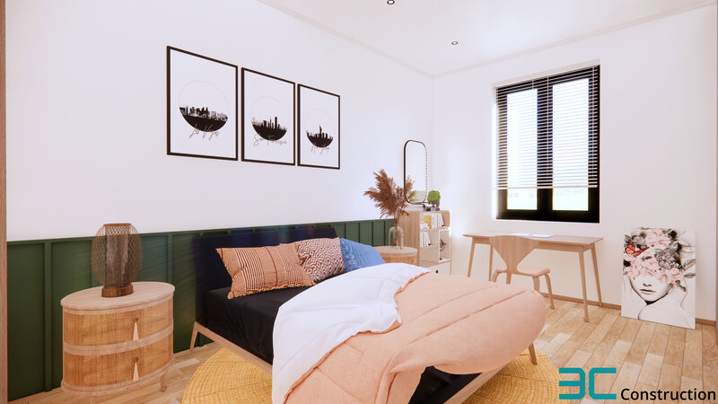 Phòng ngủ nhà mặt phố