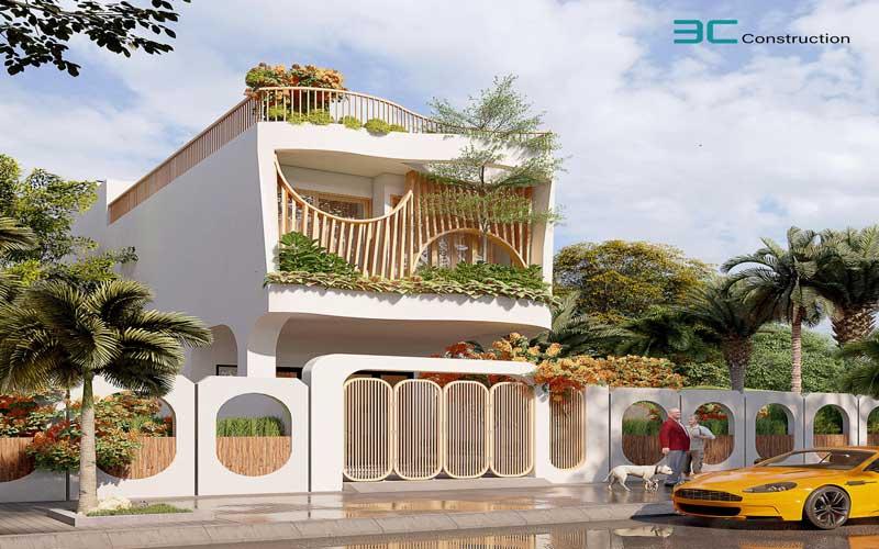 Mẫu thiết kế nhà phố diện tích 5x20m 40