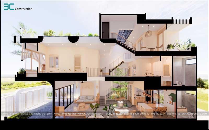 Mẫu thiết kế nhà phố diện tích 5x20m 42