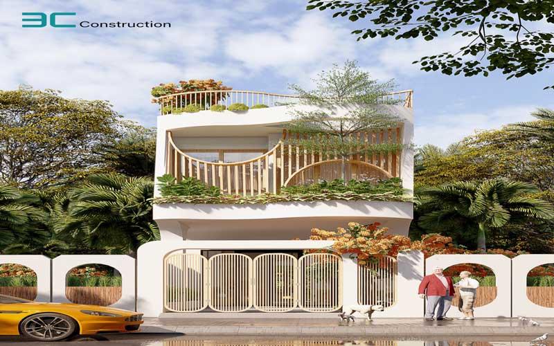 Mẫu thiết kế nhà phố diện tích 5x20m