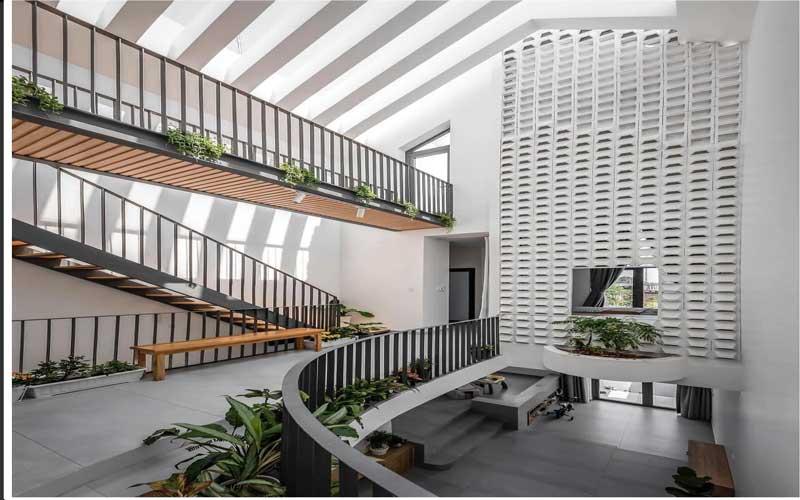 Thiết kế nhà mặt phố theo phong cách hiện đại tại Quảng Nam