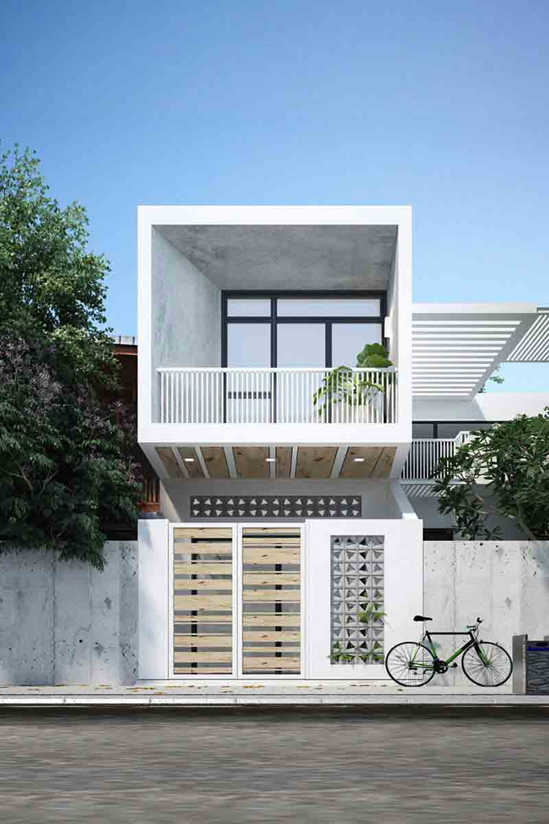 Nhà phố phong cách đơn giản, hiện đại