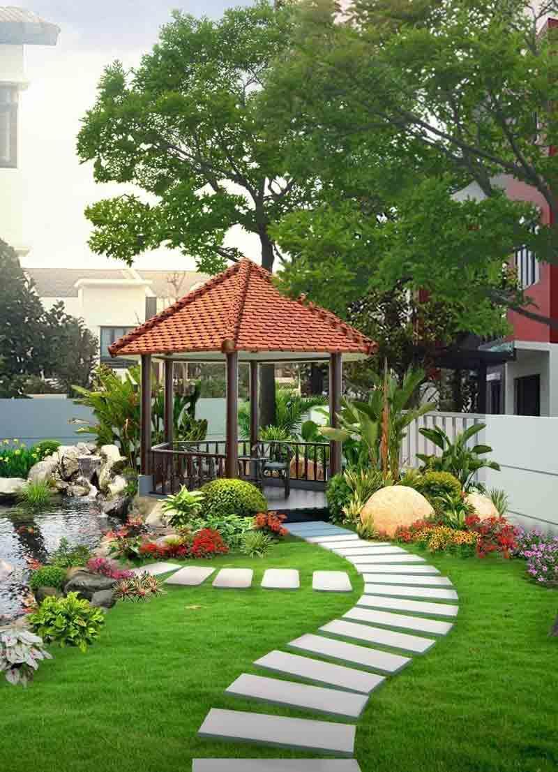 nhà phố sân vườn