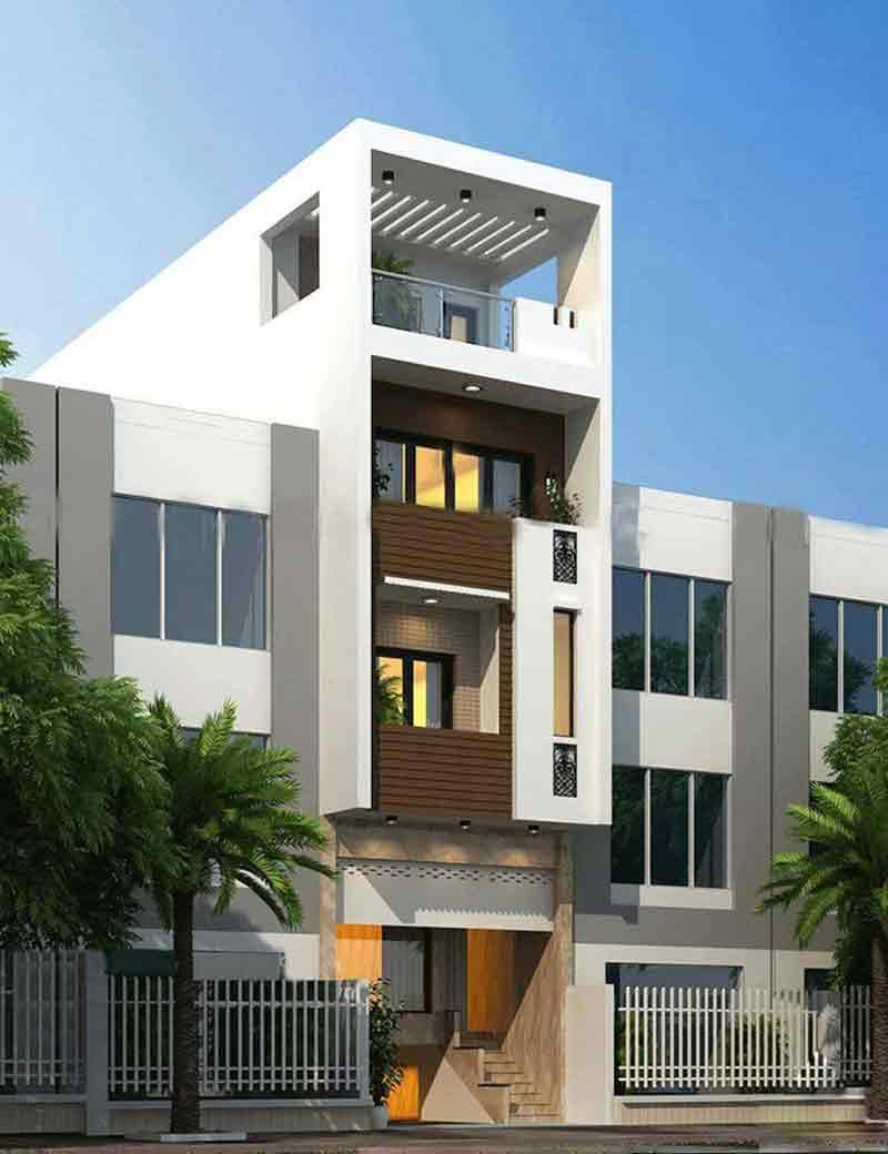 Nhà phố thiết kế đơn giản hiện đại
