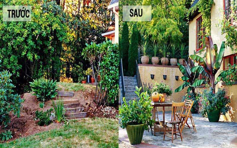 tiến hành thi công cải tạo nhà vườn