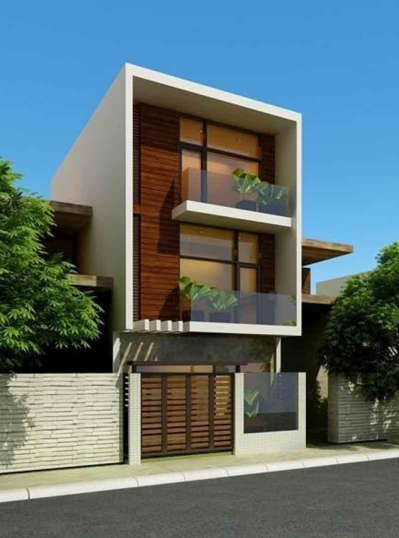 Mẫu thiết kế nhà mặt phố hiện đại
