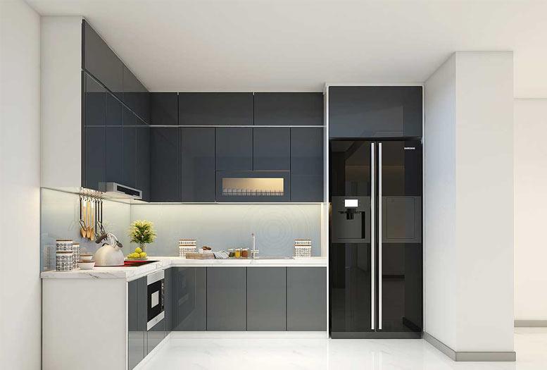tủ bếp cho thiết kế phòng bếp hiện đại