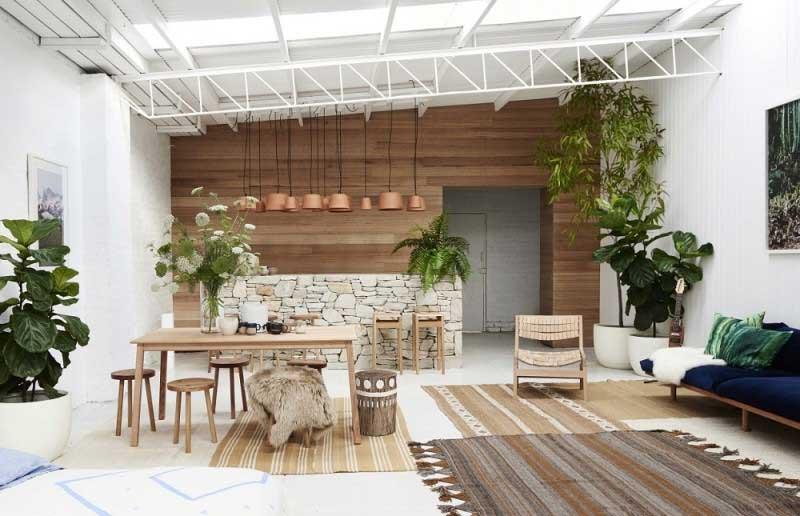 phòng khách theo phong cách đơn giản