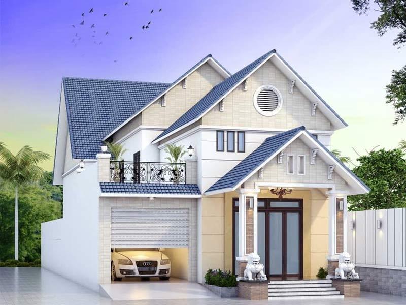 thiết kế nhà một tầng có gác lửng đẹp