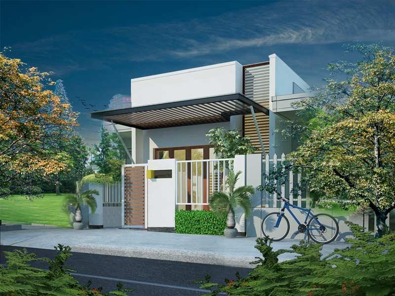 thiết kế nhà một tầng có gác lửng