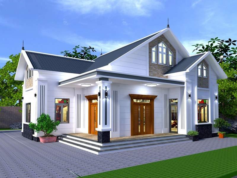 thiết kế nhà một tầng mái thái 2