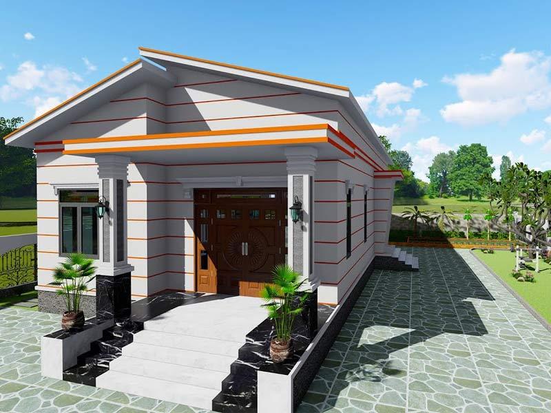 thiết kế nhà một tầng