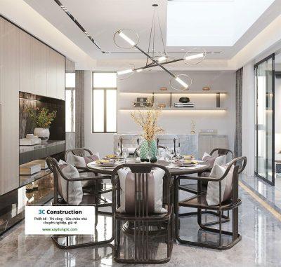 Mẫu thiết kế nội thất phong cách Châu Á