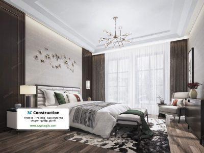 Thiết kế phòng ngủ phong cách Châu Á