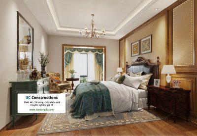thiết kế phòng ngủ phong cách Bắc Mỹ