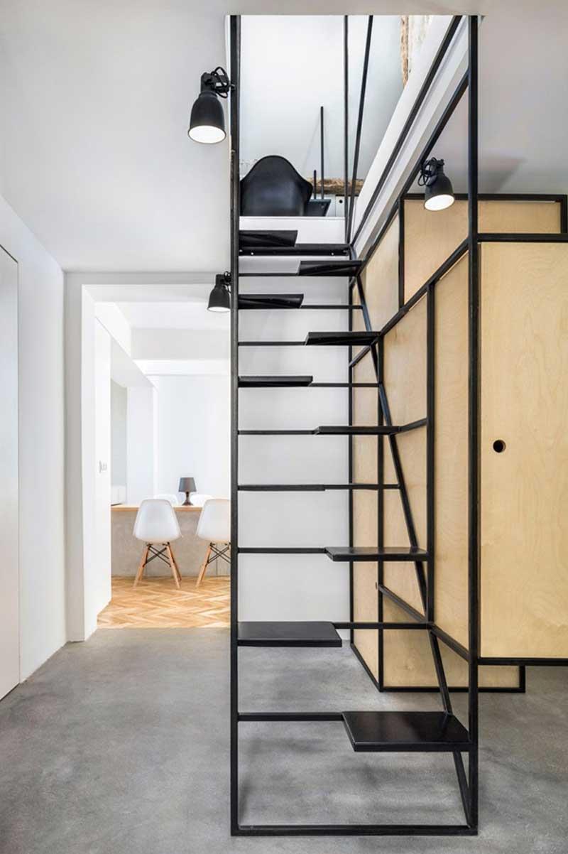 Cầu thang gác lửng cao cấp