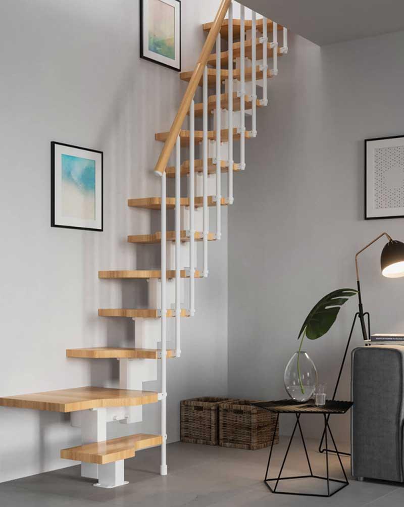Cầu thang gỗ độc đáo